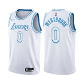 2021 Los Angeles Lakers Russell Westbrook #0 City Edition White Jersey
