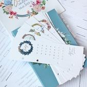 Закладки-трекеры «12 месяцев» для органайзера (личного дневника) вышивальщицы