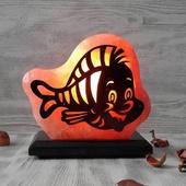"""Соляной светильник """"Большой с узором"""" Рыбка 2кг гималайская соль"""