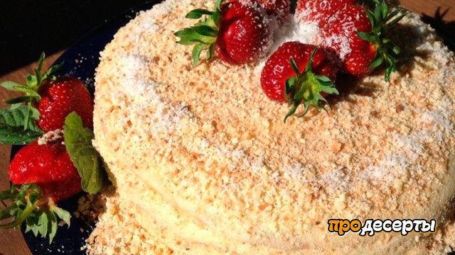 Слоеный творожно-сметанный торт 😍