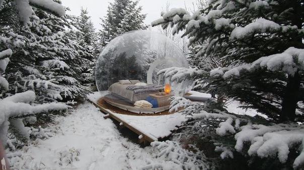 Самые необычные отели-пузыри.