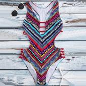 Яркий и стильный купальник-монокини