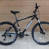 """Велосипед TRINX M1000 MAJES гидравл(2021) 27,5"""" 19 рама Черный/Синий/Белый"""