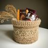 Изделия из джута: корзинки, сумки, кашпо, декор